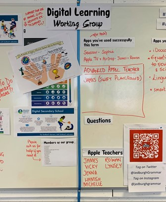 Digital learning noticeboard